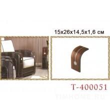 МДФ подлокотник для диванов, кресел со стразами. T-400051