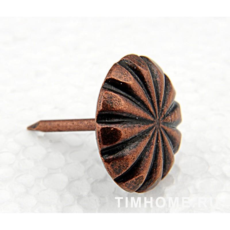 Гвозди мебельные декоративные Цветок 11х16 мм THG 010110